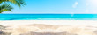canvas print picture - sonniger sandstrand am meer