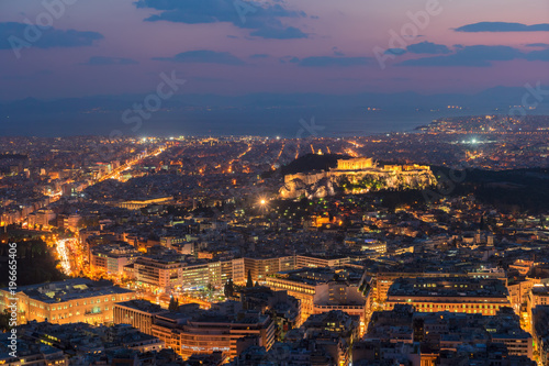 Athènes cityscape of Athens at night, Greece