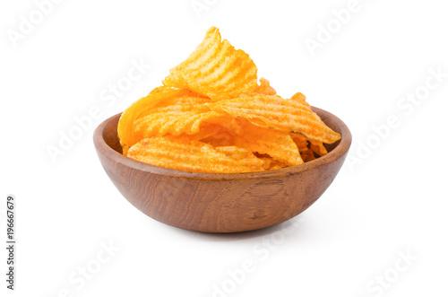 Fotografía  Kartoffelchips gebacken