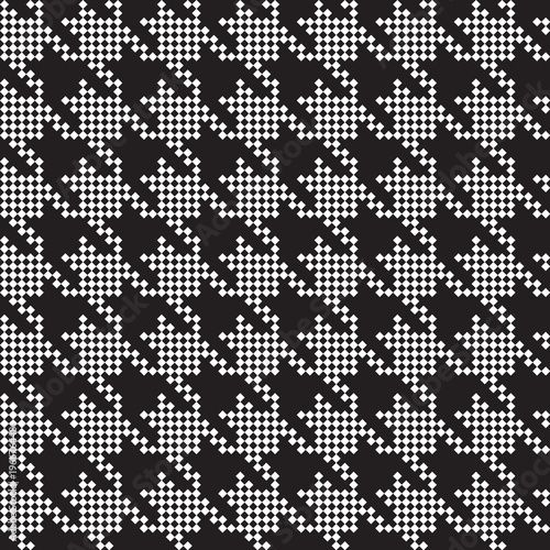 Photo  Seamless hounds-tooth pattern background with black and white