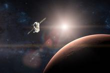Planet Mars. Spacecraft Launch...