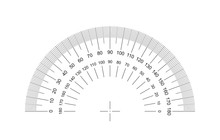 Protractor. Protractor Grid For Measuring Degrees. Tilt Angle Meter. Measuring Tool. AI10