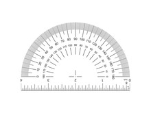 Protractor With Ruler 4-inch. ...