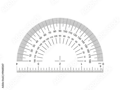 Photo Protractor with ruler 4-inch