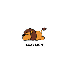 Lazy Lion Icon, Logo Design, V...