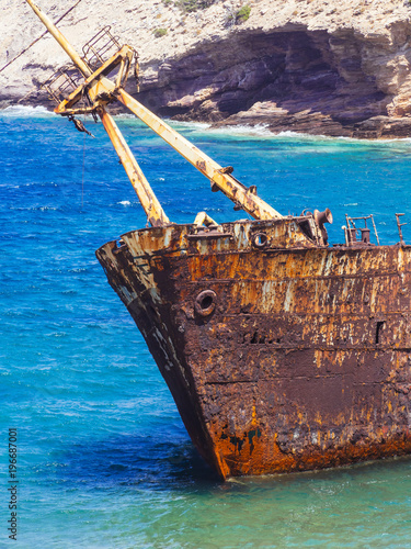 Photo A close up from the famous shipwreck of  Amorgos island