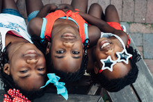 Three Black Girls In USA Colors