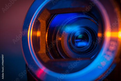 Video camera lens Canvas Print