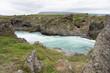 Landschaft rund um den Goðafoss - Wasserfall in Nord-Island