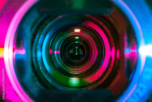 Video camera lens Fototapet