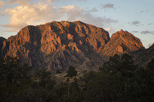 Chisos Basin At Sunset;  Big B...