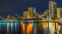San Francisco Port. Long Exposure.