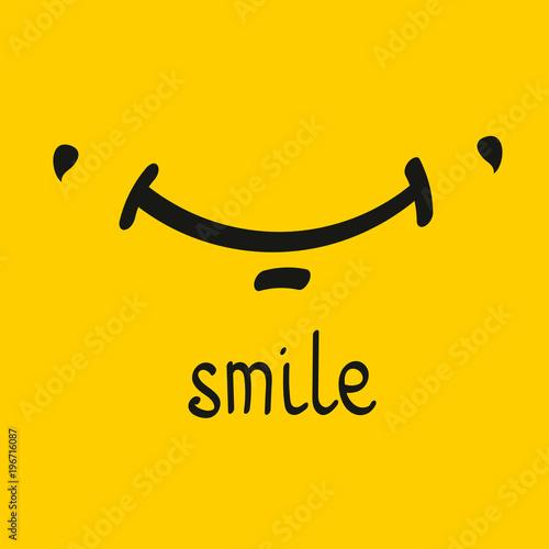 Valokuva  Vector smile card
