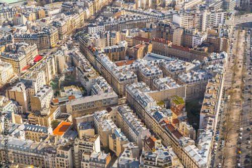 Papiers peints Paris Paris, aerial view, buildings and roofs, France