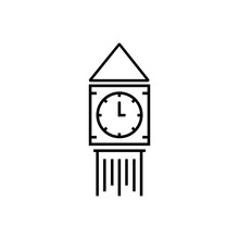 Big Ben Outlined Vector Icon