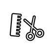 hairdresser outlined vector icon
