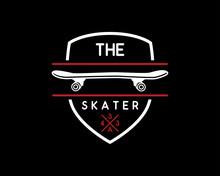 Skateboard Vintage Retro Logo ...