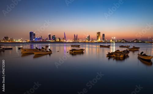 Fotografie, Tablou Twilight over Bahrain