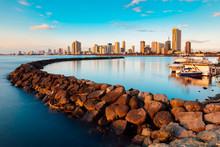 Skyline Of Manila City And Man...