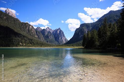 Poster Reflexion lago di Dobbiaco (Trentino Alto Adige)