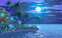 Tropical Ocean Coast With Plan...
