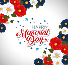 Memorial Day With Beautiful Flowers