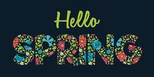 Design Of Floral Text For Spri...