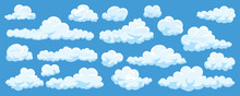 Set Of Cartoon Clouds