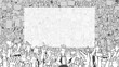 Illustration of detailed crowd protest demonstration with large blank banner