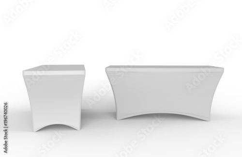 Fotografia, Obraz  Blank Exhibition advertising table cloth used Dining Spandex Table Cover