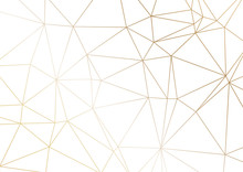 Gold Polygonal Texture. Vector...