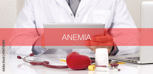 HEALTH CONCEPT: ANEMIA Canvas Print
