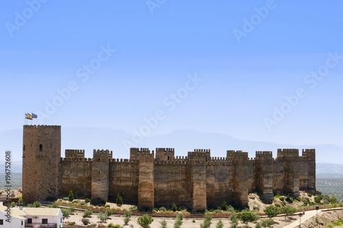 Castillo de Burgalimar en el municipio de Baños de la encina, Jaén