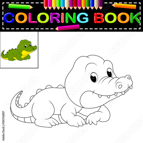 Fototapeta premium crocodile coloring book