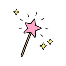 Pink Star Shaped Magic Wand Wi...