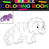 Fototapeta Dinusie - dinosaur coloring book