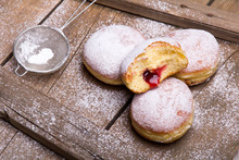 Traditional Polish Donuts On W...