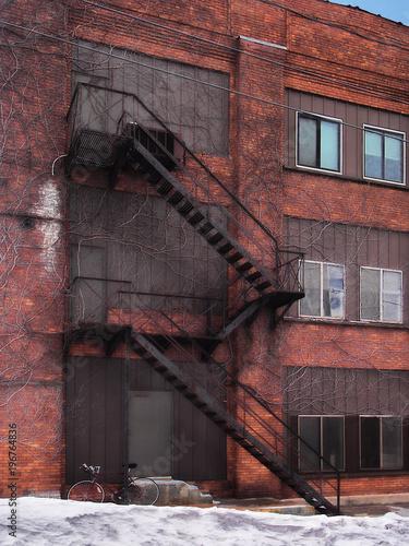 Tablou Canvas fire escape stairs
