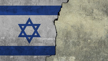 Flag Of Israel Painted On The ...