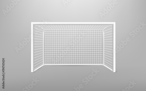 Fotografia, Obraz  Football soccer goal realistic sports equipment