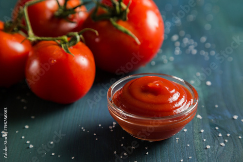 Portion of tomato ketchup