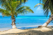 Belize Cayes - Small tropical island at Barrier Reef with paradise beach, Caribbean Sea, Belize, Central America
