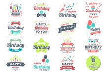 Happy Birthday Vector Logo For...