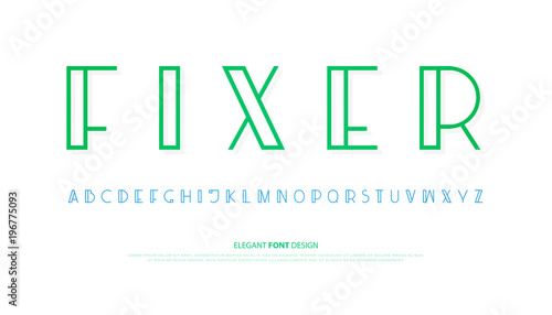 Regular Alphabet Letters Vector Font Type Design Modern Lettering