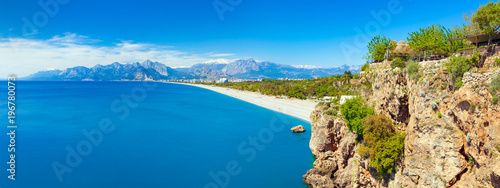Fotobehang Kust Sunny summer day with clear blue sky in Antalya, Turkey