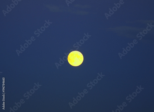 Papiers peints Bleu nuit Moon in Kargopol. Russia