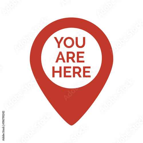 Cuadros en Lienzo  Marker location icon with you are here