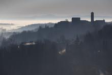 Monferrato, Asti District, Piedmont, Italy. Monferrato Wine Region, Castagnole Monferrato Village