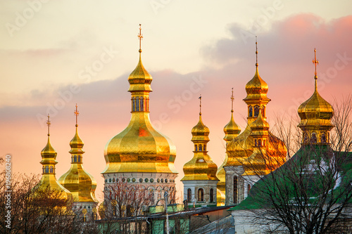 Photo Stands Kiev St. Michael's Golden-Domed Monastery in Kiev (Ukraine)