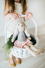 Easter Basket With Easter Bunny